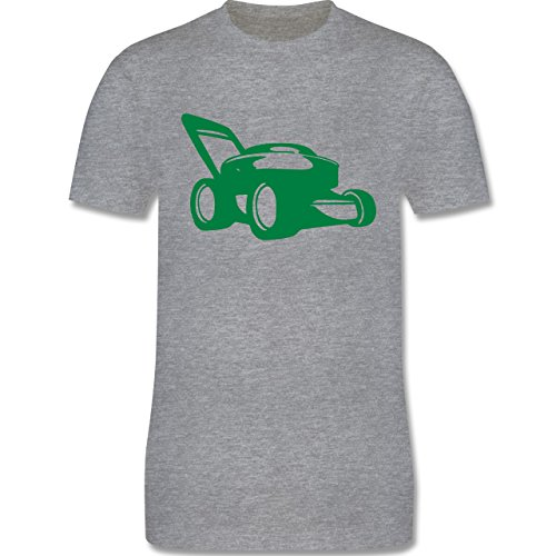 Andere Fahrzeuge - Rasenmäher - Herren Premium T-Shirt Grau Meliert