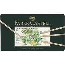 Faber-Castell 112136 - Estuche de metal con 36 ecolápices Pitt pastel, multicolor