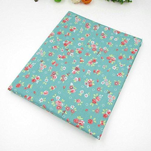 una pieza de algodón estampado floral de 50cm * 160cm telas para hacer patchwork, telas tilda, retales de telas, tela algodon por metros