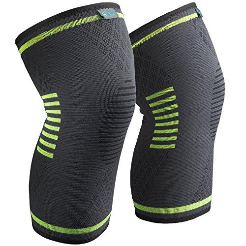 Sable Knieschoner Knieschützer 1 Paar Knieschutz für schnellere Genesung, mehr Stabilität und Unterstützung beim Laufen und Joggen Size:L
