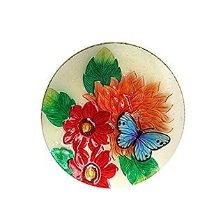 Alpine Corporation kpp182t-1845,7cm Blume mit Schmetterling Vogeltränke