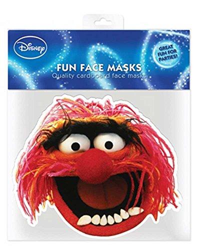 Muppets Animal - Papp Maske, aus hochwertigem Glanzkarton mit Augenlöchern, Gummiband - Grösse ca. 30x20 cm