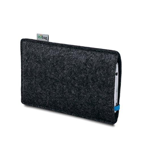 Stilbag Filztasche 'LEON' für Apple iPhone 7 plus - Farbe: rot-anthrazit blau