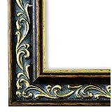 Bilderrahmen Verona Braun Gold 4,4 - LR - 50 x 70 cm - 500 Varianten - alle Größen - handgefertigt - Galerie-Qualität - Antik, Barock, Modern, Shabby, Landhaus - Fotorahmen Urkundenrahmen Posterrahmen