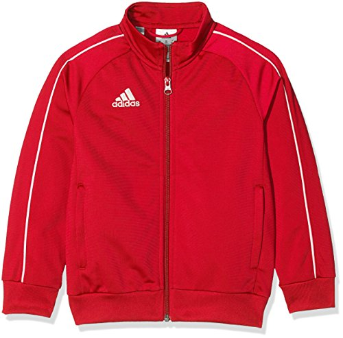 adidas Kinder Core 18 Jacke, Rot (Power Red/White), 152