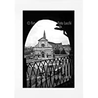 Archivio Foto Locchi Firenze – Stampa Fine Art su passepartout 50x70cm. – Immagine di piazza Santa Maria Novella a Firenze negli anni '50