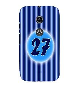 Fuson 3D Printed Numerology Designer back case cover for Motorola Moto E2 - D4247