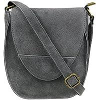 b15a142f368b Girly HandBags Oval Flap Genuine Suede Shoulder Bag