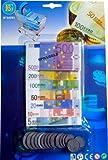 Spielgeld Set EURO Scheine und Münzen