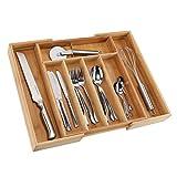 bonsport Besteckkasten für Schubladen von 31-48 cm • ausziehbar aus Bambus