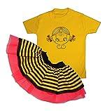 Girls Little Miss Sunshine Tutu Set Fancy Dress Book Week Costume (3-4 Years)