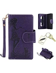 Slim Bumper Case PU Case for Sony Xperia XA Soft Protective Flexible Soft Anti-Shock Thin Lightweight Silicone Cover Cap–Photo Frame Keychain # Year Cover Case 1