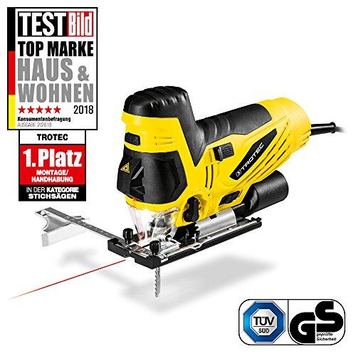 TROTEC PJSS 11-230V Stichsäge   Pendelhubstichsäge   850 Watt Motor   3 Pendelhubstufen + Feinschnittstufe   Laser-Führungslicht