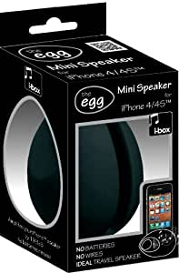 i-Box 79084B The Egg Enceinte pour iPhone 4/4S Noir