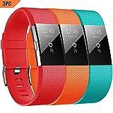 YOMETOME Fitbit Charge 2 Cinturino, Sport Band Morbido TPE Sostituzione Regolabile Della Fascia Della Cinghia per Fitbit Charge 2 Smartwatch Cardiaca Fitness Wristband