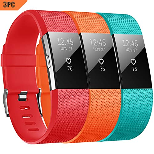 Yometome Charge 2 Armband Original, Weiche TPE Uhrenarmband für Sport und Ersatz Klassisch Armband für Charge 2 -