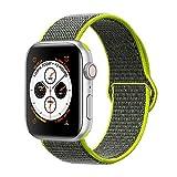 Corki pour Bracelet Apple Watch 38mm 40mm, Nylon Bracelet de Remplacement Bande pour Apple Watch iWatch Séries 4 (40mm), Séries 3/ Séries 2/ Séries 1 (38mm), Jaune Flashy