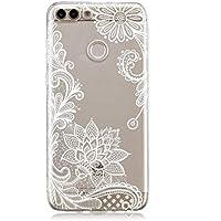 Miagon Transparent Handyhülle für Huawei P Smart,Silikon Hülle für Huawei P Smart, Schön Kreativ Weiß Blume Muster... preisvergleich bei billige-tabletten.eu
