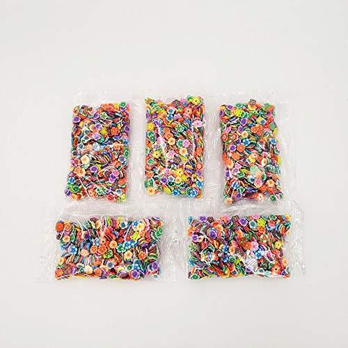 1000 Teile/Satz Verschiedene Schleim Scheiben DIY Handwerk Dekorationen Obst Scheiben Schleim Machen Lieferungen für Weichen Ton & Nail Art - Multicolor -