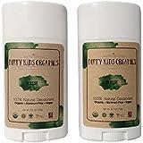 "2 Pack Certified Organic Kid's Deodorant Stick (Dirty Kids Organics) ""Forest"" - Vegan, Non-Toxic, Non-GMO, Paraben..."