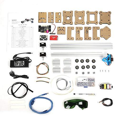 SEAFRONT Zeichnen/Schreiben Roboter, 2 Achsen DIY CNC XY Plotter Stift Zeichnungsmaschine Roboter mit 1 Watt Laser, 220V AC Zeichnungsmaschine (EU Plug)