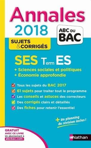 SES terminale ES : + sciences sociales et politiques + économie approfondie