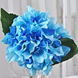 ShiQi Fiori artificiali rami corti sfera bouquet nuziale Soggiorno Blu floreali per matrimoni Festival decorazione per banchetti