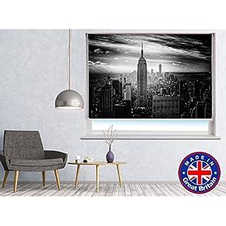 NEW YORK SKYLINE BLACK & WHITE Printed Picture Blackout Photo Roller Blind - Custom Made Printed Window Blind