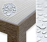 Glasklar Folie 2,0 mm transparente Tischdecke Tischschutz Lebensmittelgeeignet, Breite und Länge wählbar, 90x80 cm - 4