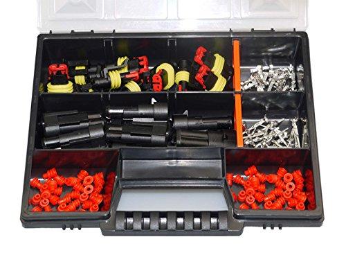 AMP Superseal 2-polig 1,5-2,5² Sortimentskasten Stecker Elektrik Steckverbinder KFZ Motorrad LKW QUAD