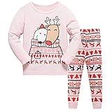 Tkiames Jungen Mädchen Rentier Langarm Schlafanzug Kinder Pyjamas Sets Kleidung Set Weihnachten Baumwolle Kleinkind Pjs Nachtwäsche