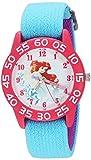 Disney Girl's 'Princess Ariel' Quartz Plastic and Nylon Casual Watch Color:Blue (Model: WDS000171)