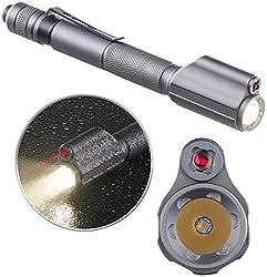 Kryolights Stab-taschenlampe: 2in1-profi-pen-light, Led-taschenlampe & Laser-pointer, 110 Lm, 3 W (Led-taschenlampe Und Laserpointer)