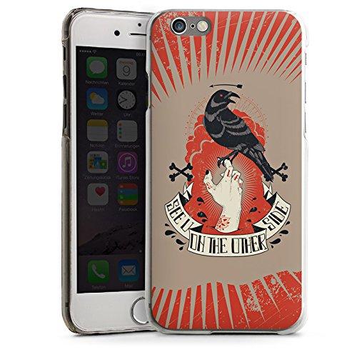 Apple iPhone 5 Housse étui coque protection Corbeau Corbeau Gothique CasDur transparent