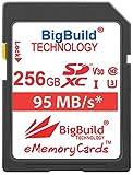 BigBuild Technology 256GB UHS-I U3 95MB/s Speicherkarte für Canon EOS 1200D, 1300D, 2000D, 200D, 4000D, 5DS, 5DS R, 77D, 800D, 80D, 9000D, 5D Mark IV, 6D Mark II, M100, M3, M5, M50, M6, R Kamera