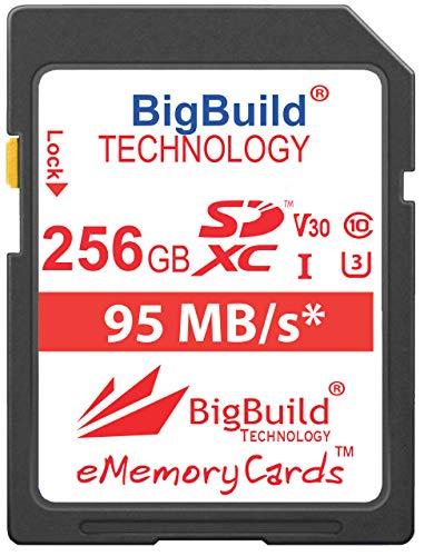 BigBuild Technology 256GB UHS-I U3 95MB/s Speicherkarte für Canon PowerShot SX420 IS, SX430 IS, SX520 HS, SX530 HS, SX540 HS, SX60 HS, SX610 HS, SX620 HS, SX710 HS, SX720 HS, SX730 HS, SX740 HS Kamera - Canon Powershot Speicherkarte