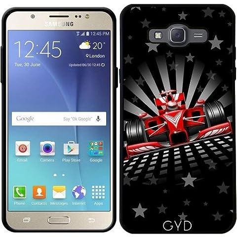 Funda para Samsung Galaxy J7 2016 (SM-J710) - Fórmula 1 Coche De Carreras Rojo by BluedarkArt