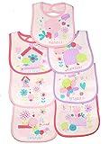 Universal Textiles Bavoir Motif pour bébé, pour chaque jour de la semaine, fille et variantes de Jeunes, Pour 0–6mois, 7pièces