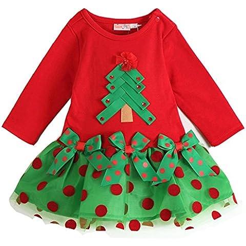 Ohlees Navidad Papá Noel niño niña infantil Disfraz de Papá Noel (Set Sombrero Traje