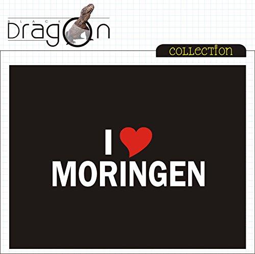 T-Shirt mit Städtenamen - i Love Moringen-Walldorf- Herren - unisex Schwarz