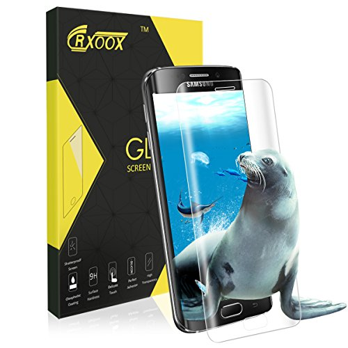 Verre Trempé pour Samsung Galaxy S6 Edge, 3D Couverture Complèt Film de Protection, 3D Touch Compatible, Dureté de 9H, Facile à Installer Sans Bulles pour Samsung Galaxy S6 Edge