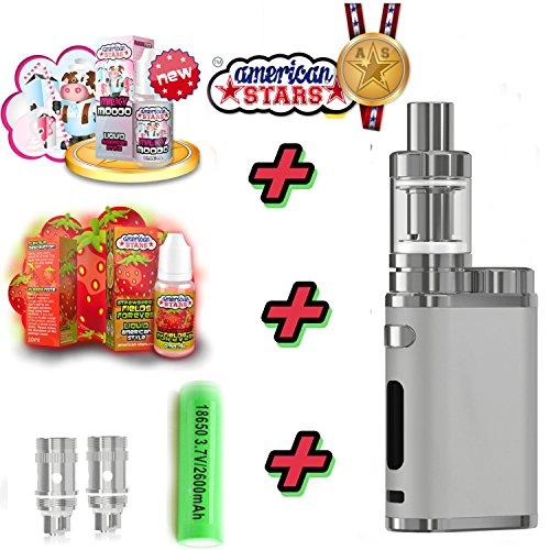 Elektronische Zigaretten Set iStick Pico 75W 2600mAh - TC (Temperaturregelung) - E Zigarette mit Eleaf American Stars Liquids - Leistungsstarker Sony Akku - Rauchen ohne Nikotin