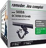 Rameder Attelage rotule démontable pour Skoda Octavia III Combi + Faisceau 7 Broches...