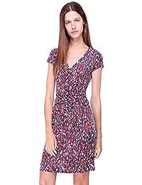 34d4aa50018e Revdelle - Robe Cache Cœur col en V Made in France Manches Courtes pour  Femme
