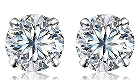 SaySure - 925 Sterling Silver Jewelry 5.6.7.8Mm Piercing Stud Earring