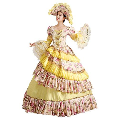Cosplayitem Damen Mädchen Lagerter Gothic viktorianischen Kleid Kostüm Abendkleid Palace Maskerade Königin Prinzessin (Kinder Kostüm Fedex)
