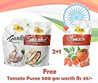La Faire Tamrind Paste, Garlic Paste Free Tomato Puree 500 gm Each
