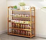 YLLXJ Estante de zapatos de bambú Listones Hogar Hogar Conjunto de múltiples capas Shoebox Tipo económico Banco de zapatos Estante de almacenamiento de zapatos de bambú natural 100% (Tamaño : C5)