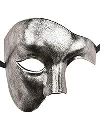 KEFAN Masque vénitien Mascarade Masque en métal découpé au Laser de Mardi Gras Masque