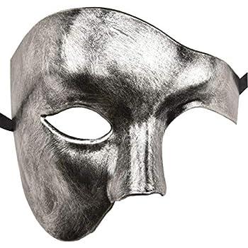 Décorations et accessoires de fêtes ANGAZURE-FR Dentelle Masque en Métal pour Masque Vénitien Mascarade Masque Diamant